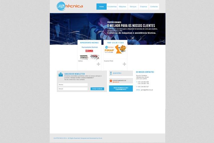 Apresentação de website Afitécnica