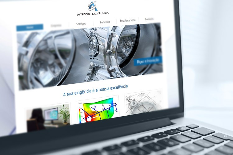 Apresentação de website dexprom