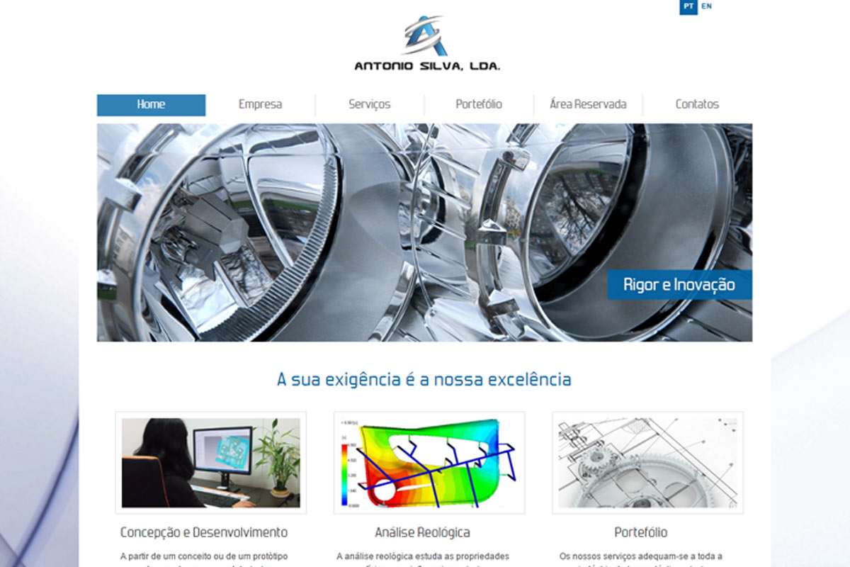 Apresentação de website Antonio Silva