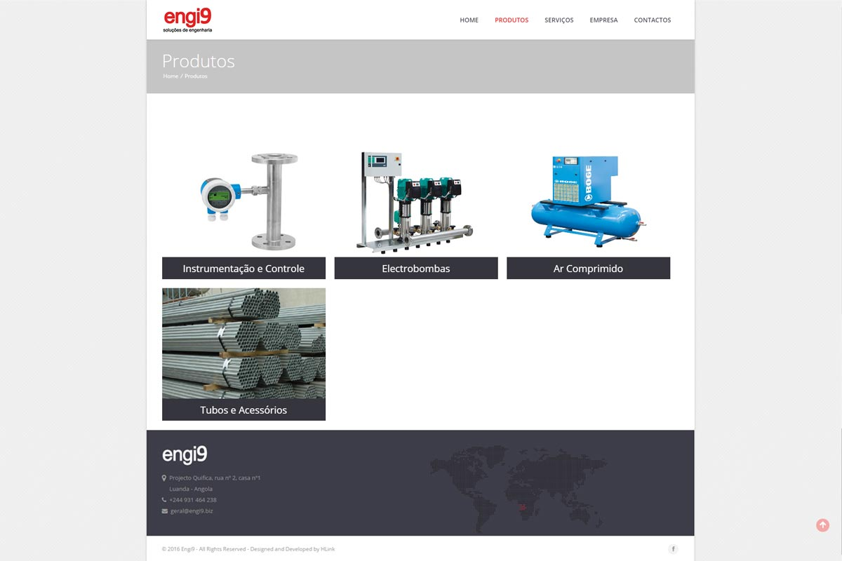 Apresentação de website Engi9