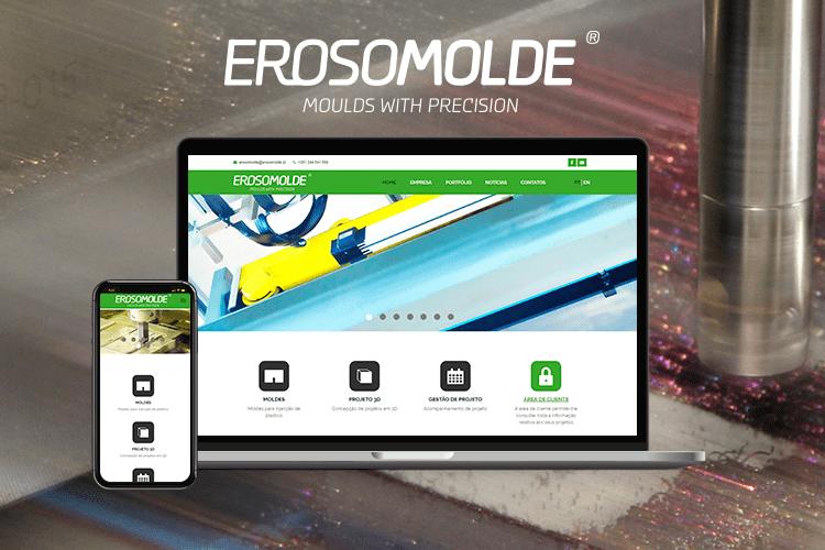 Apresentação de website Erosomolde