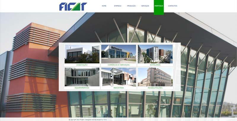 Apresentação de Website Ficaat