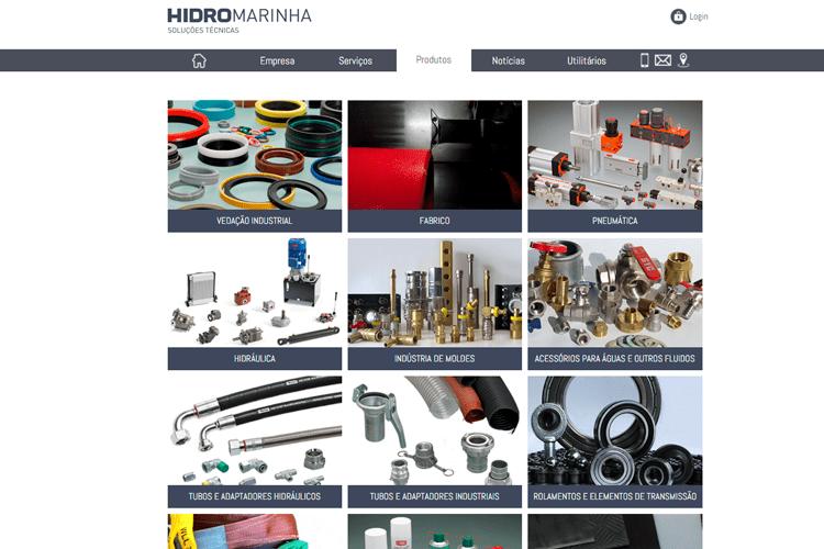 Apresentação de website Hidromarinha