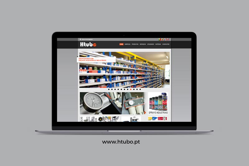 Apresentação de website HTubo