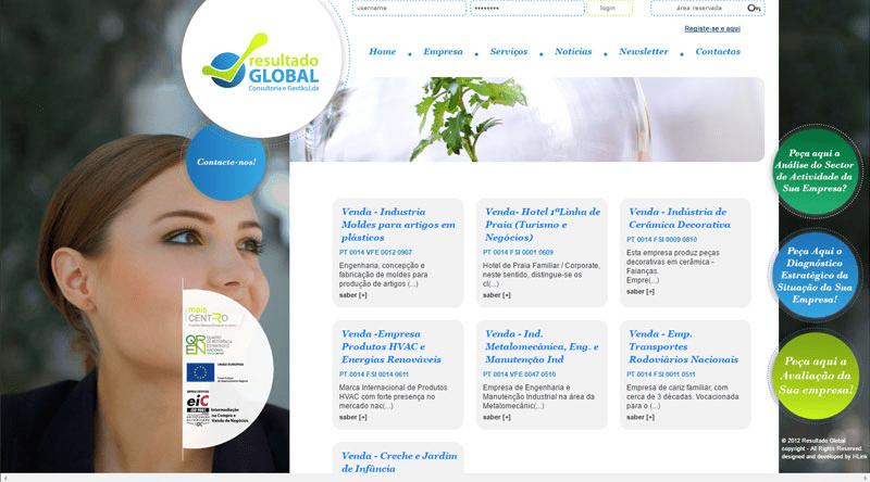 Apresentação de Website Resultado Global