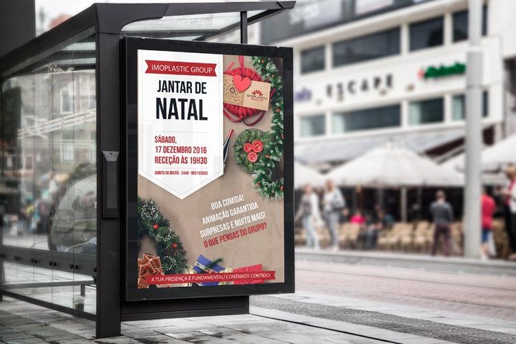 Cartaz de Jantar de Natal da empresa Imoplastic Group