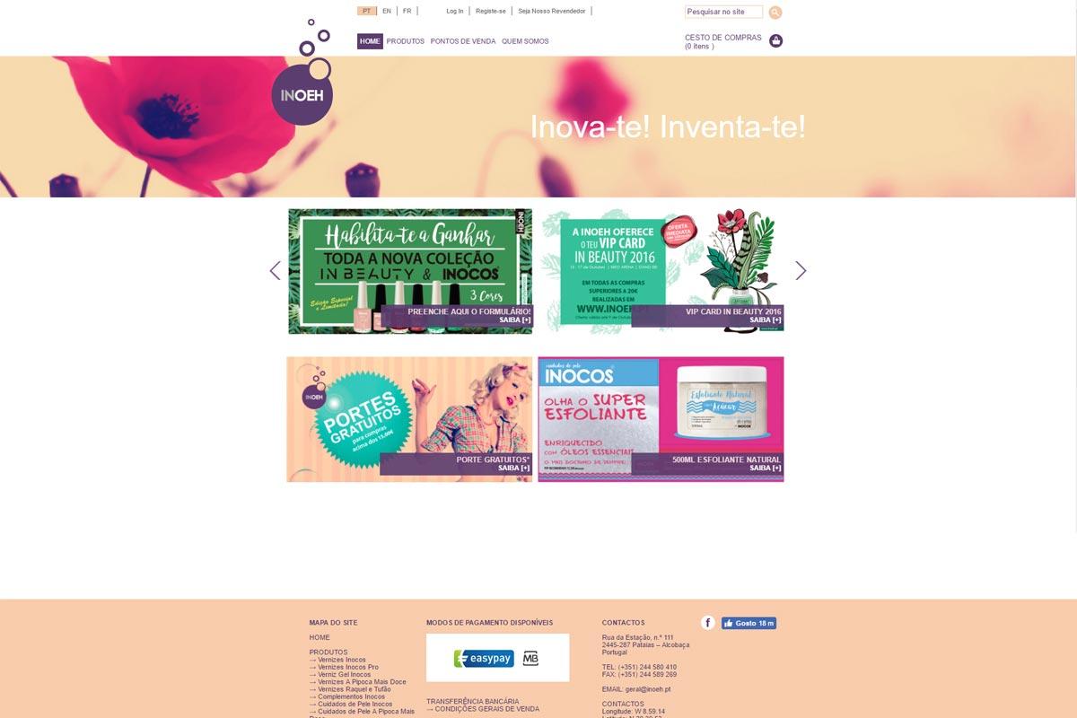 Apresentação de website Inoeh