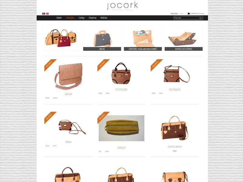 Apresentação de website Jocork