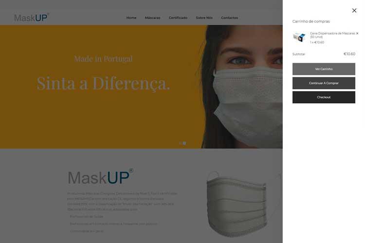 Apresentação do novo website maskup