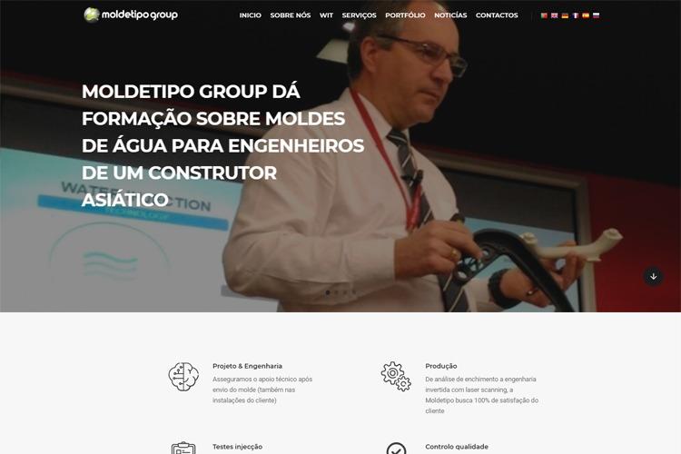 Apresentação de website Moldetipo