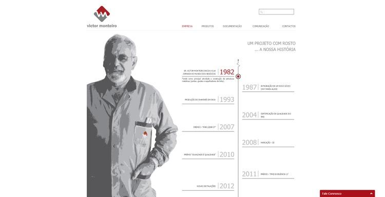Apresentação de website Victor Monteiro