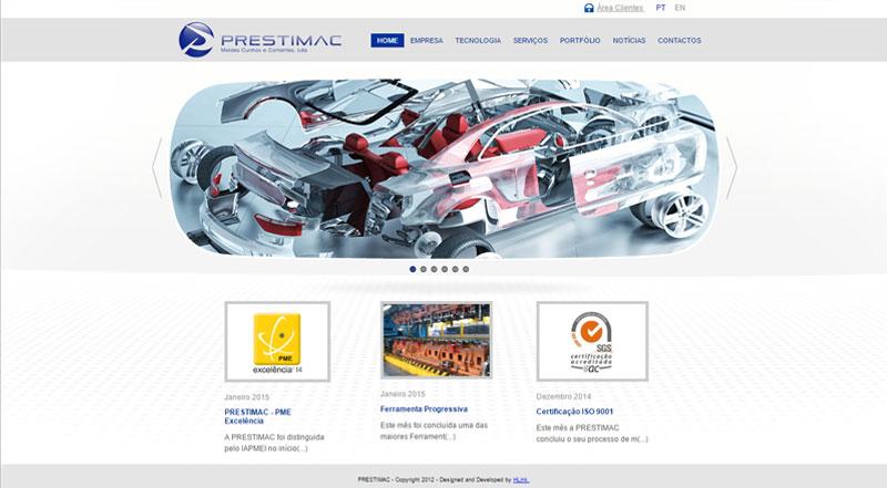 Apresentação de Website Prestimac