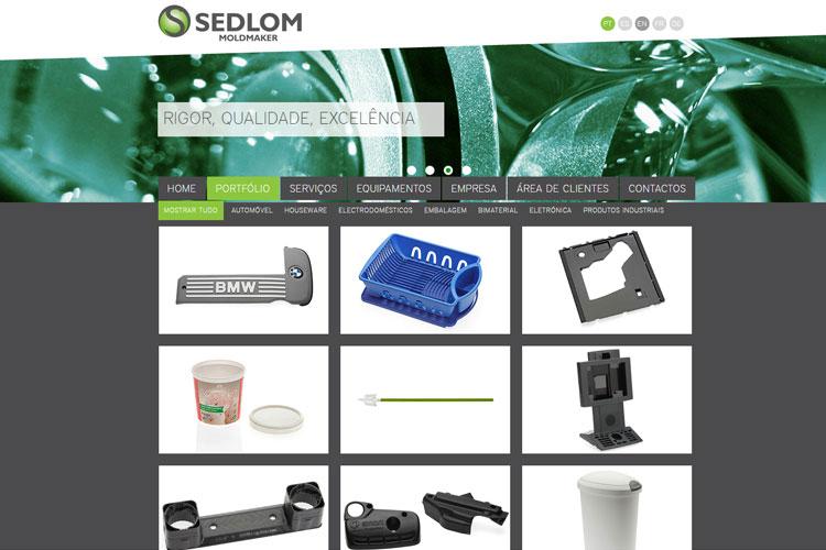 Apresentação de website Sedlom
