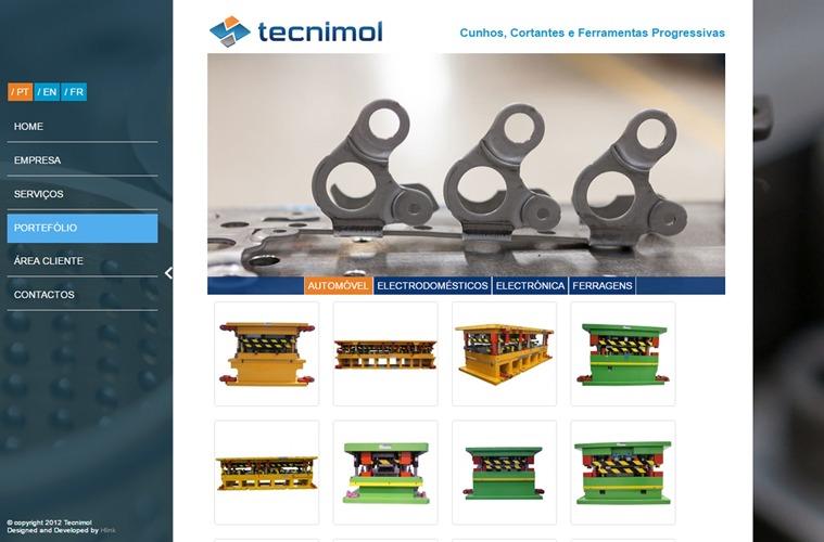 Apresentação de Website Tecnimold