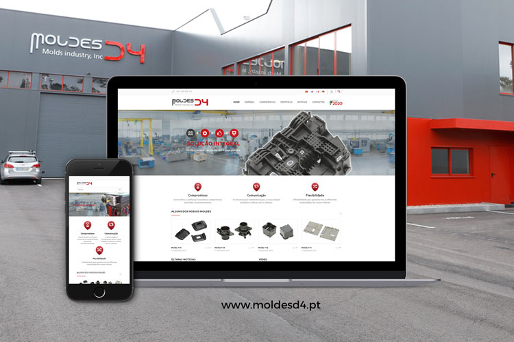 Apresentação de website Moldes D4
