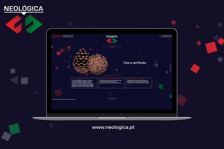 Apresentação de website Neologica