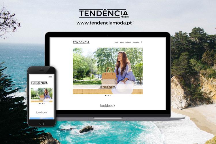 Apresentação de website Tendência Moda