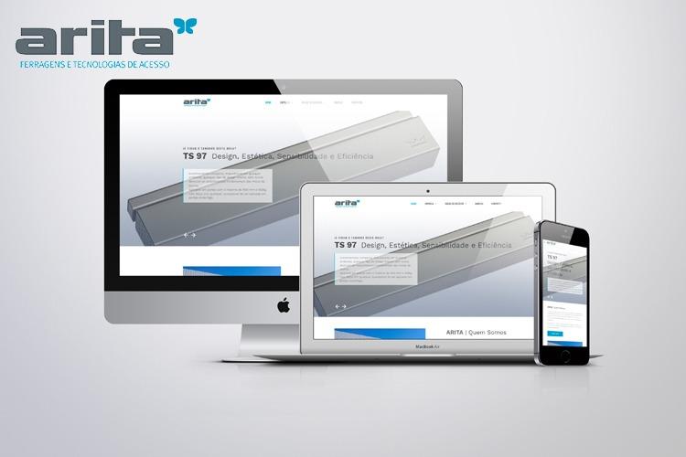 Apresentação de website arita