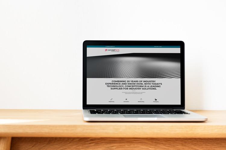 Apresentação do novo website da concept form