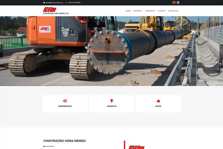 Apresentação do novo website da Construções Vieira Mendes