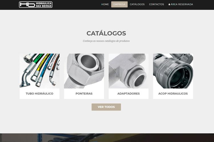 Apresentação de website Hidraulica das Beiras