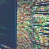 Imagem de computador com programação