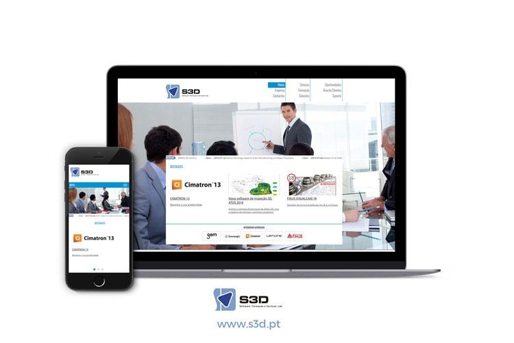 Apresentação de website S3D