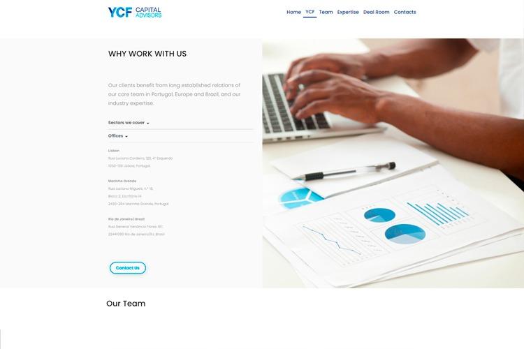 Apresentação de novo website YCF